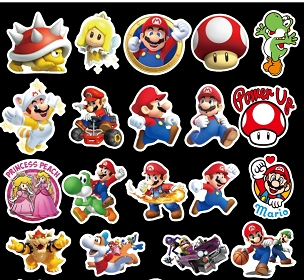 Nintendo Mario Themed Stickers
